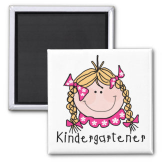 Blond Girl Kindergartener Tshirts and Gifts Magnet
