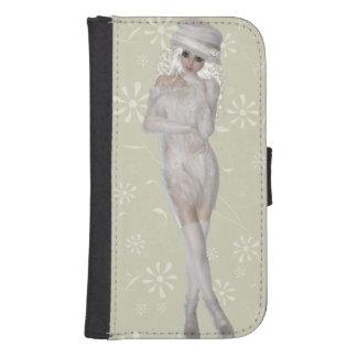 Blond Girl Samsung Galaxy S4 Wallet Case
