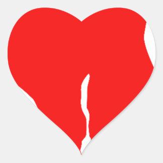 Blond girls heart sticker