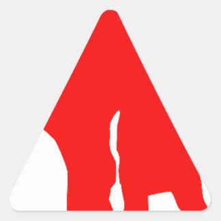 Blond girls triangle sticker