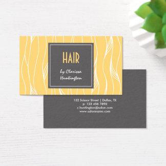Blond Locks Hair Stylist Business Card
