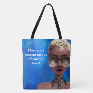 Blond Melanin Berry Beauty Black Art Blue Tote Bag