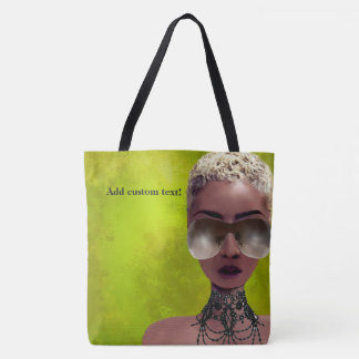 Blond Melanin Berry Beauty Black Art Green Tote Bag