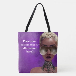 Blond Melanin Berry Beauty Black Art Purple Tote Bag