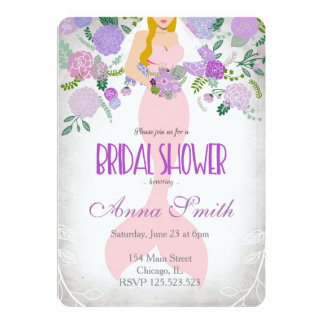 Blond Mermaid bridal invitation under the sea