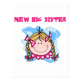 Blond New Big Sister Tshirts and Gifts Postcard