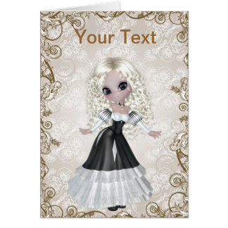 Blond Princess Greeting Card