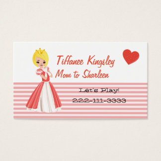Blond Princess Mommy Networking Card