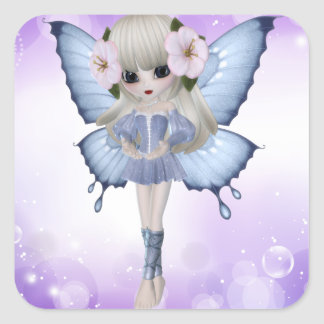 Blond Princess Square Sticker