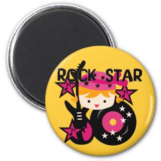 Blond Rock Star Girl Magnet