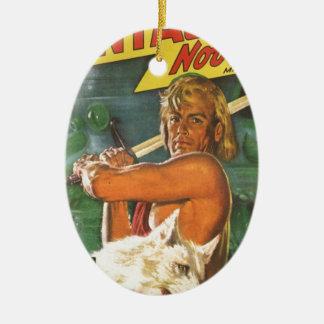 Blond Swordsman Ceramic Ornament