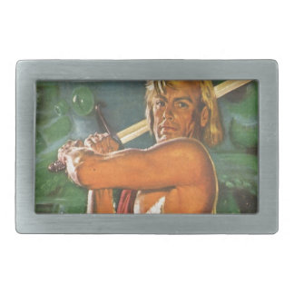 Blond Swordsman Rectangular Belt Buckles