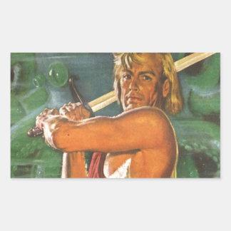 Blond Swordsman Sticker