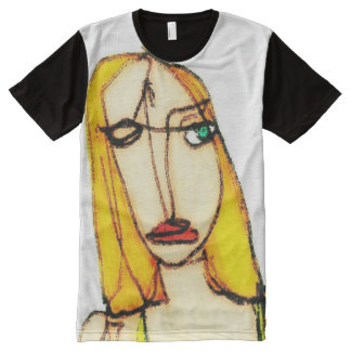 Blond woman All-Over-Print T-Shirt