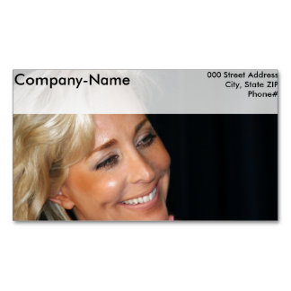 Blond Woman Smiling Business Card Magnet