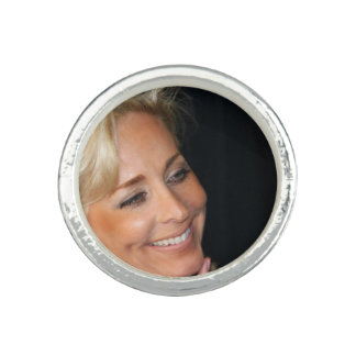 Blond Woman Smiling Ring