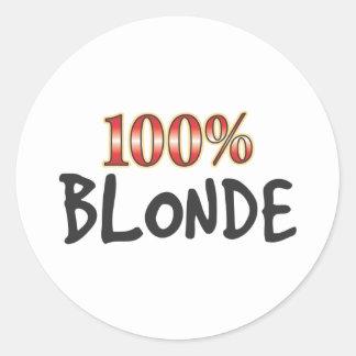 Blonde 100 Percent Stickers