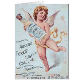 Blonde Angel Cologne Ad Card