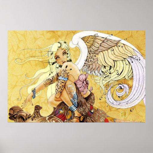 Blonde Angel Large Print
