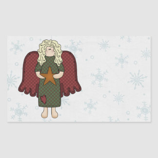Blonde Angel with Star Sticker
