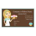 Blonde/Aqua Cupcake Baker/Bakery Business Card