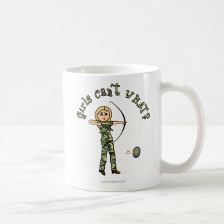 Blonde Archery in Camouflage Mugs