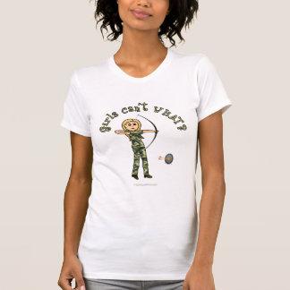 Blonde Archery in Camouflage Tshirts