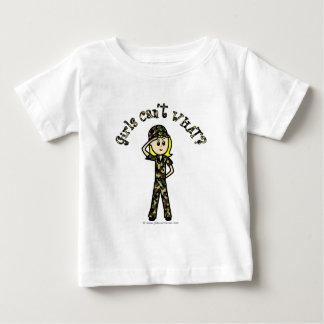 Blonde Army Woman T Shirt