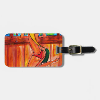 Blonde at Tiki Bar Luggage Tag