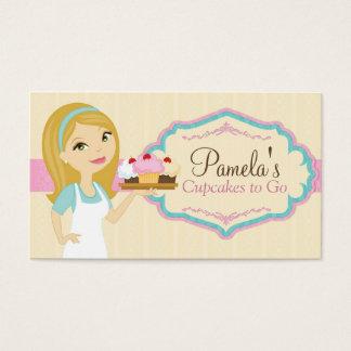 Blonde Baker Cupcake Business Cards D13