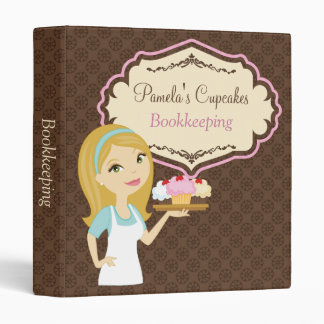 Blonde Baker Cupcake D12 3-Ring Binder 3