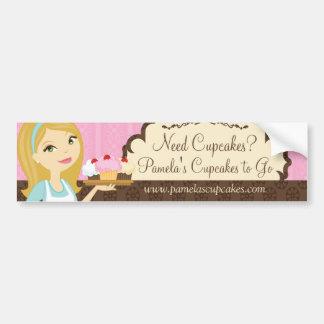 Blonde Baker Cupcake D12 Bumper Sticker 1