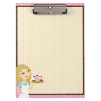 Blonde Baker Cupcake D12 Clipboard 3
