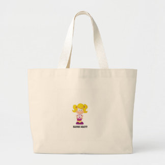 blonde beauty girl large tote bag