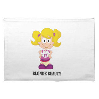 blonde beauty girl placemat