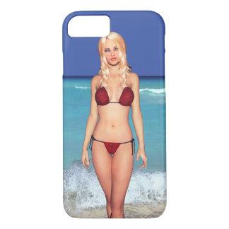 Blonde Bikini Beach Babe iPhone 7 Case