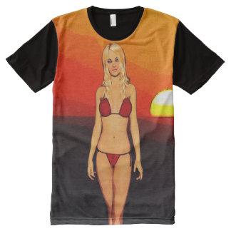 Blonde Bikini Sunset Babe
