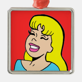 Blonde Bombshell Comic Strip Christmas Ornament