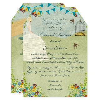 Blonde Bride Garden Bridal Shower Invitations