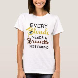 Blonde Brunette are best friends T-Shirt