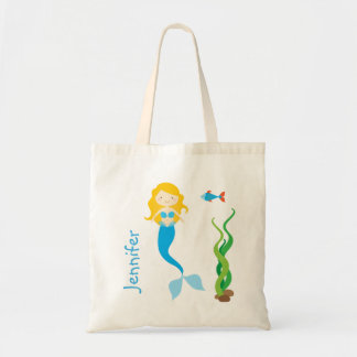 Blonde Cartoon Mermaid Treat Bag