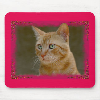 Blonde Cat Mausepad Mouse Pad