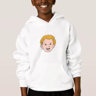 Blonde Caucasian Toddler Head Smiling Drawing
