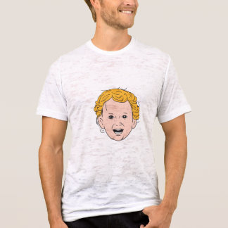 Blonde Caucasian Toddler Head Smiling Drawing T-Shirt