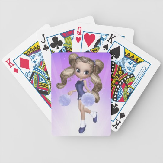 Blonde Cheerleader Playing Cards