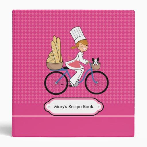 Blonde Chef Binder Recipe Organizer