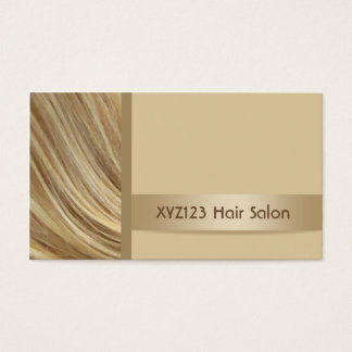 Blonde Color Hair Hairdresser Salon Business Cards