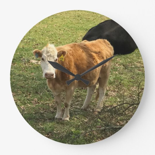 Blonde Cow Wall Clock