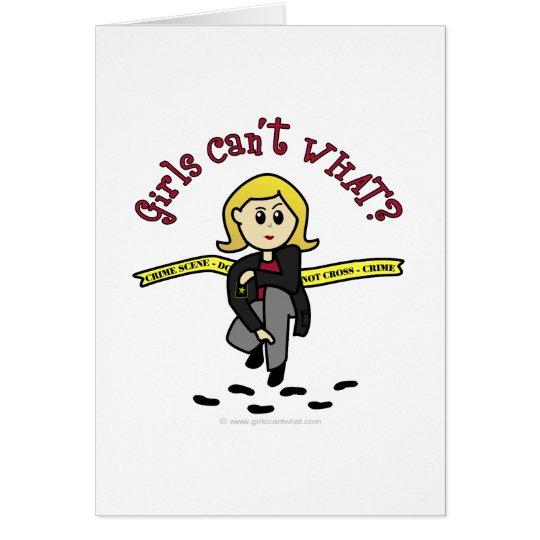 Blonde CSI Girl Card