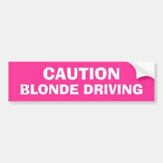 Blonde Driving Bumper Sticker